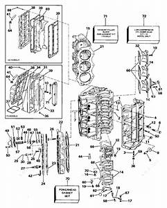 Johnson 1988 175 - J175tlccm  Cylinder  U0026 Crankcase