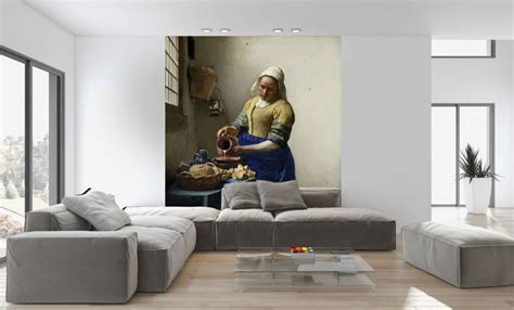 fotobehang het melkmeisje walldesigncom