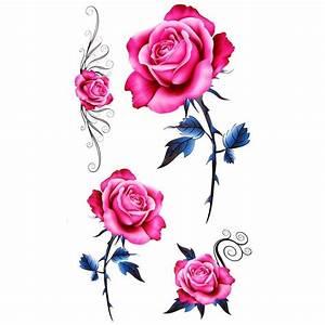 Tatouage De Rose : tatouage ephemere rose fleur de style old school ~ Melissatoandfro.com Idées de Décoration