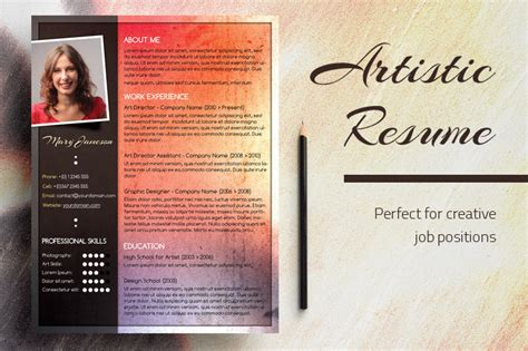 Artistic Resumesartistic Resumes by An Artistic Resume Design Chili Pepper