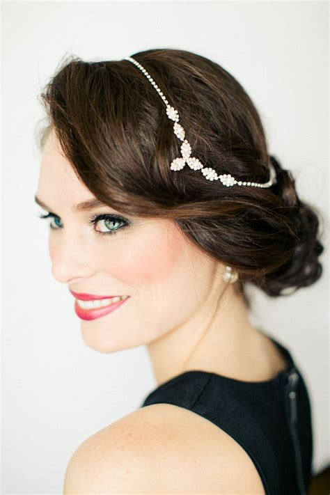20 deco bridal hair makeup ideas chic