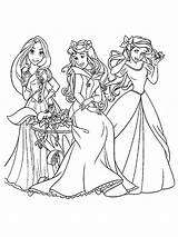 Princess Disney Coloring Pages Colouring Recommended Mycoloring sketch template