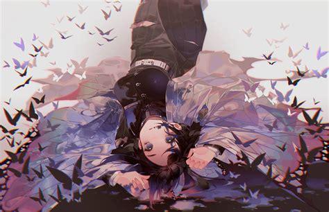 wallpaper anime kimetsu  yaiba kochou shinobu