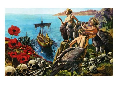 sirens attempting to odysseus giclee print by payne