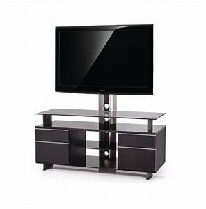 Tv 120 Cm : meuble tv design noir noir 120 cm gld 120h sbb premium mobuler ~ Teatrodelosmanantiales.com Idées de Décoration