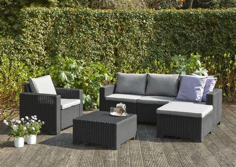 chaise de jardin allibert allibert moorea lounge set graphite allibert