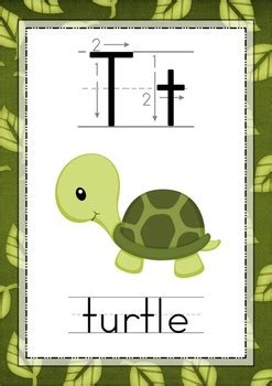 jungle alphabet posters  correct letter formation