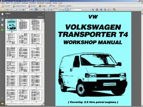 volkswagen transporter t4 service manual