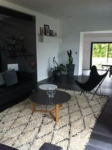 secret berbere chez nos clients tapis deco design noir With tapis blanc et noir