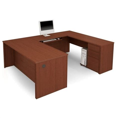 bestar prestige l shaped desk with pedestal bestar prestige u shape wood computer desk with pedestal