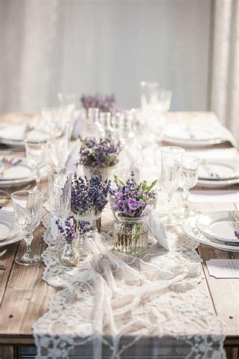 Tischdeko Mit Lavendel by Hochzeitstischdeko Ideen Blumenschmuck Mit Lavendel