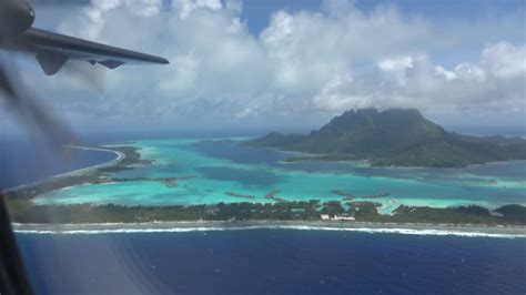 Air Tahiti Atr 72 Flight Raiatea To Bora Bora Airport