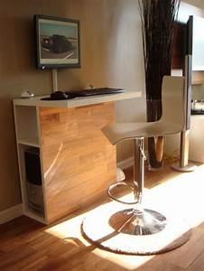 Petit Bureau Pour Ordinateur : petit meuble ordinateur bureau table lepolyglotte ~ Teatrodelosmanantiales.com Idées de Décoration
