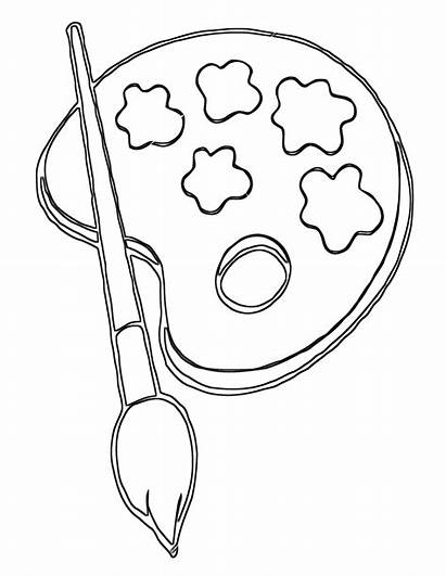 Paintbrush Coloring Pages Coloringway