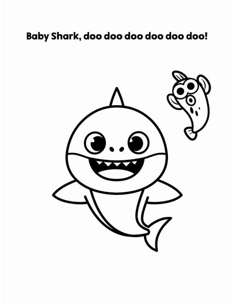 Baby Shark Pinkfong Coloring Pages