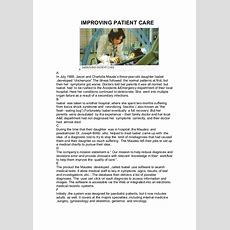 English Reading Comprehension  Improving Patient Care