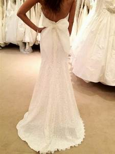 dress bridal gown lace dress backless bow wedding With wedding dress with bow in back