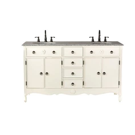 home decorators vanity home decorators collection 61 in w vanity in ivory
