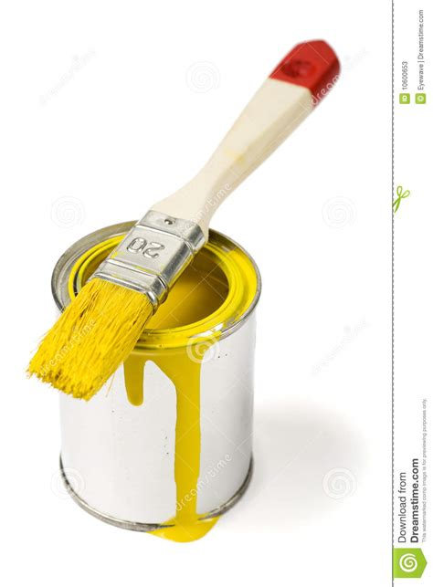 Yellow Paint Can And Paintbrush Stock Photos  Image 10600653. Double Kitchen Island. Minimalist Small Kitchen Design. Houzz.com Kitchen Islands. Small Spaces Kitchen Ideas. White Kitchen Table. Bar Island Kitchen. Kitchen Remodel Ideas For Small Kitchens Galley. Table Island Kitchen