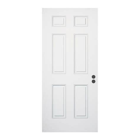 32 x 79 exterior door jeld wen 32 in x 79 in 6 panel primed fiberglass front