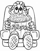 Coloring Popcorn Eating Drawing Cinema Theater Avengers Boy Printable Tickets Sheet Theatre Colouring Kid Clipart Snack Popular Clipartmag Turkey Sketch sketch template
