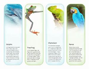 bookmarks tropical animals template microsoft With bookmarks templates for publisher