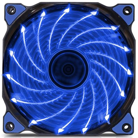 ultra quiet pc fans 120mm led ultra silent computer pc case fan 15 leds 12v