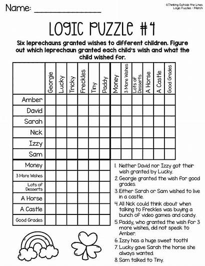 Logic Puzzles Activities Thinking Adults Critical March