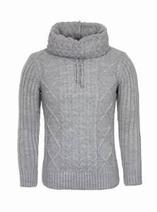 Gros Pull Laine Homme : pull en laine homme gris clair col montant 7037 ~ Louise-bijoux.com Idées de Décoration