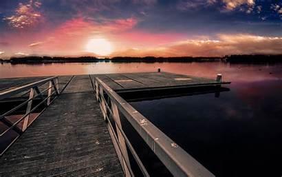 Dock Sunset Wallpapers Nature 1920 1080p 1080