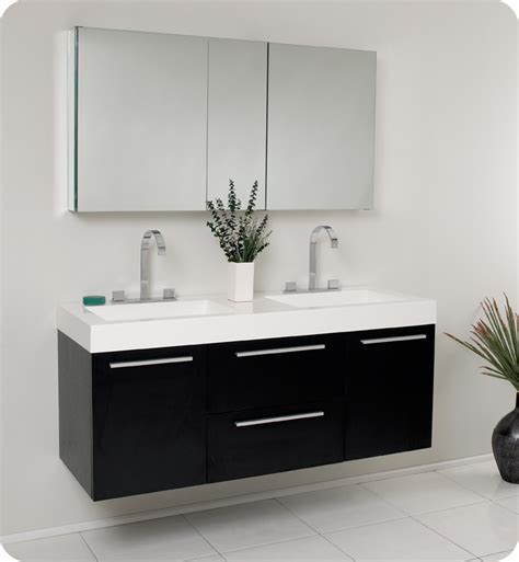 medical cabinets with sink fresca opulento black modern double sink bathroom vanity w