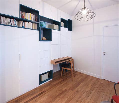 cachee bureau un meuble sur mesure multifonction astucieux dressing