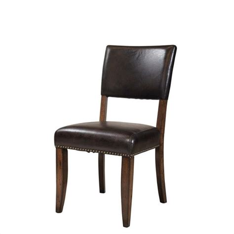 hillsdale cameron parson dining chair in chestnut brown