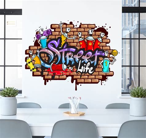 stickers chambres graffiti wall sticker wall decals
