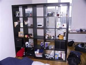 étagère Séparation De Pièce : tag re kallax ikea 69 id es originales de l 39 utiliser ~ Premium-room.com Idées de Décoration