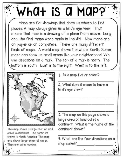 map skills land forms vocabulary  included includes
