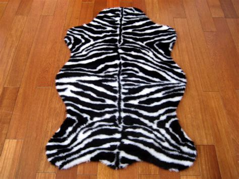 Zebra Hide Rugs by Zebra Rug Faux Fur Zebra Skin Pelt Hide Rug 2x4 New Ebay