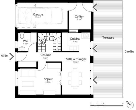 chambre garage plan maison avec 2 chambres et garage ooreka