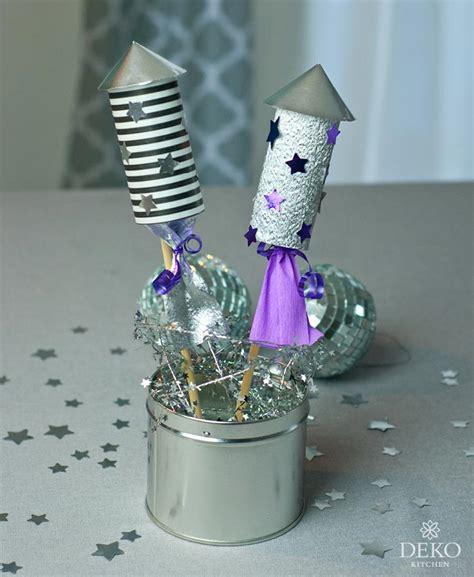 diy lustige silvesterdeko mit raketen aus papprollen deko kitchen