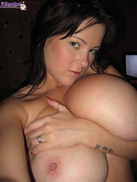 big tits side shot