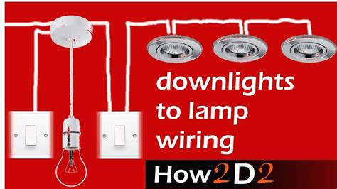 downlights to l switch wiring spotlights to switch ceiling rose youtube