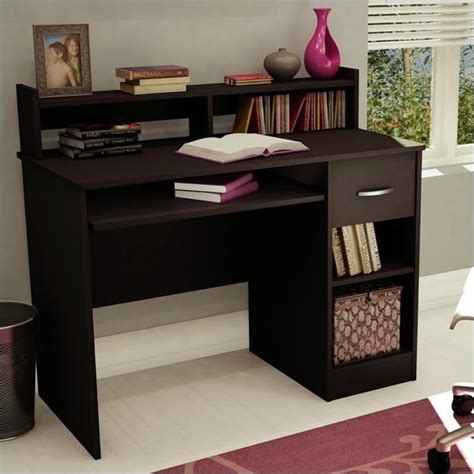south shore desk with hutch south shore axess small wood computer desk with hutch in