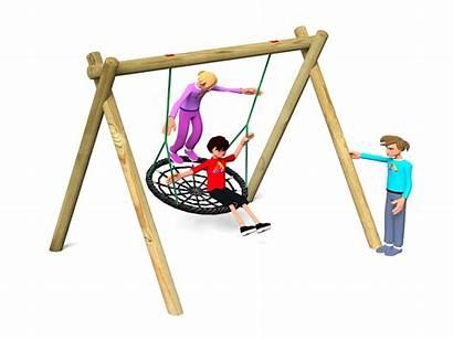 Swing Nest Equipment Playground Cantilever Wheelchair Swings