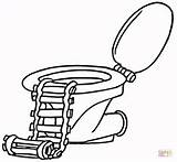 Toilet Coloring Pages Ladder Colouring Printable Paper Supercoloring Categories sketch template