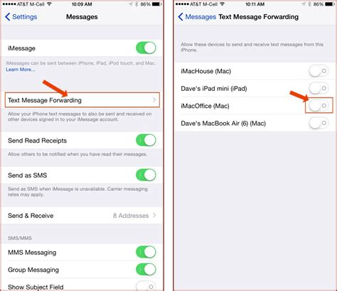 will my iphone forward how to enable apple s sms relay on your mac or the