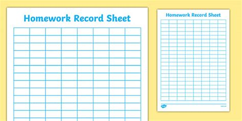 editable homework activity log sheet primary