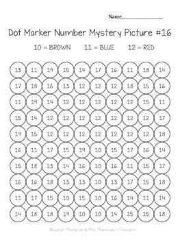 dot marker mystery picture activities numbers