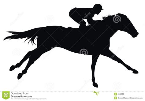 horse racing stock vector image  horse riding gallop