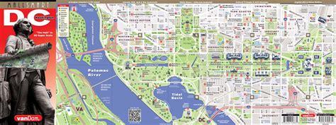 washington dc map  vandam washington dc mallsmart map