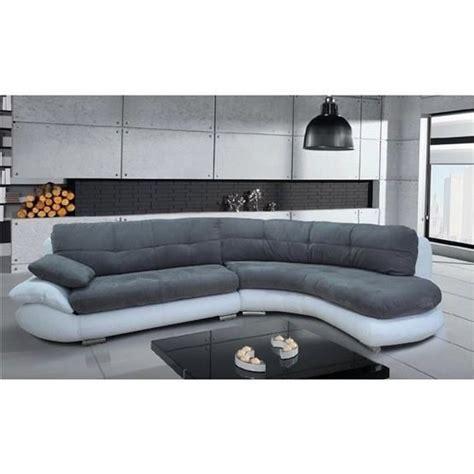 canapé courbe canapé d 39 angle regal gris et blanc angle droit achat